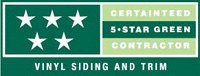 Sun Home Improvement is a CertainTeed 5-Star Green Contractor for vinyl siding and trim.